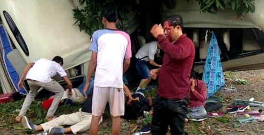charity workers minibus crash - IRRTC