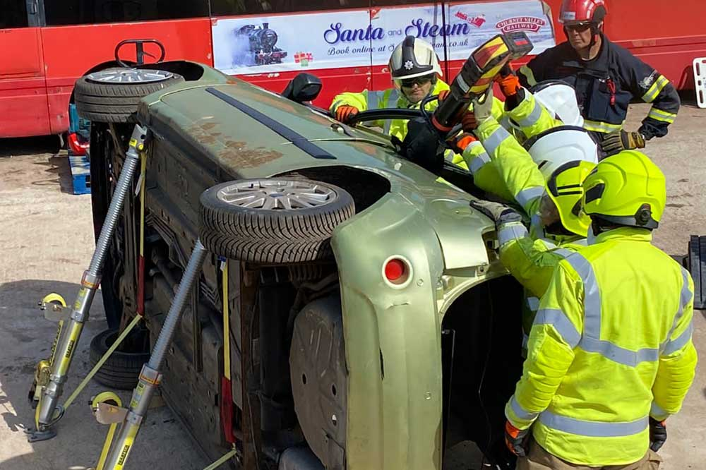 IRRTC 5-day RTCi course extrication techniques vehicle on its side